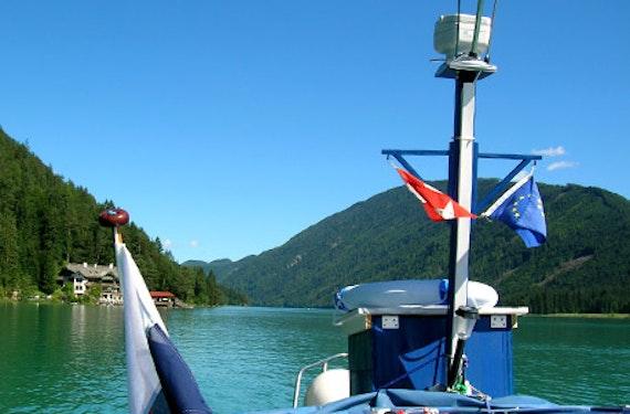Bootstauchgang im Weißensee