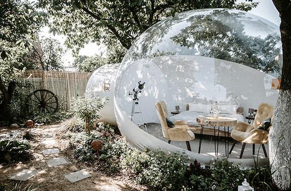 Außergewöhnlich Übernachten im Bubble Hotel Zehdenick für 2 (2 Nächte)