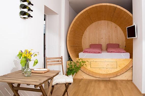 Nacht in der Weinfass-Suite im Weinviertel für 2