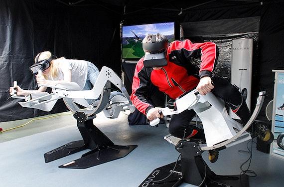 Virtual Reality Motorradrennen in Offenbach