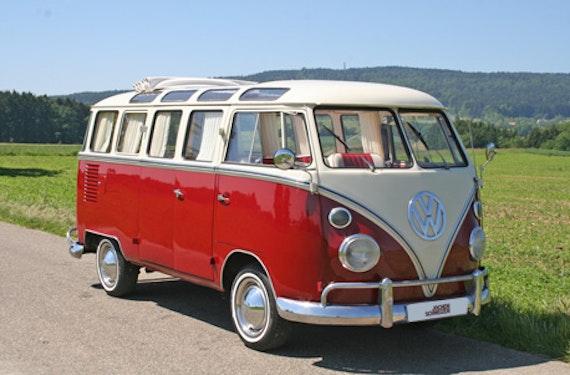 VW Bulli fahren für bis zu 8 Personen am Bodensee
