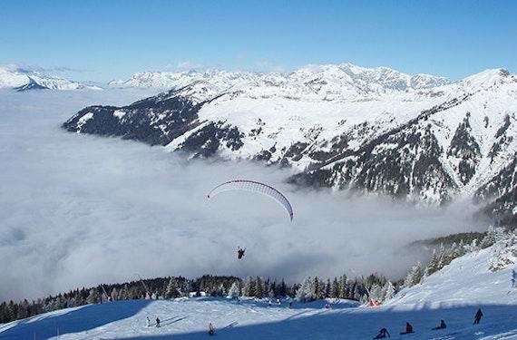 Winter Gleitschirm Tandemflug in Österreich